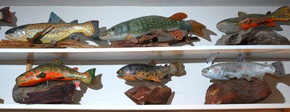 Gone fishin': Wood carver is an angler at heart