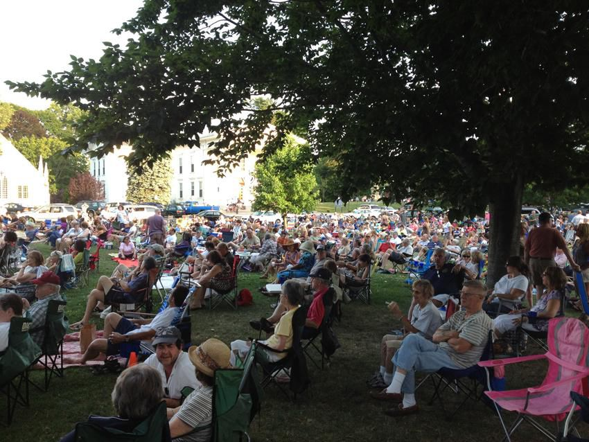 Folks headed to Branford's Jazz on the Green drop by for the Home cooking