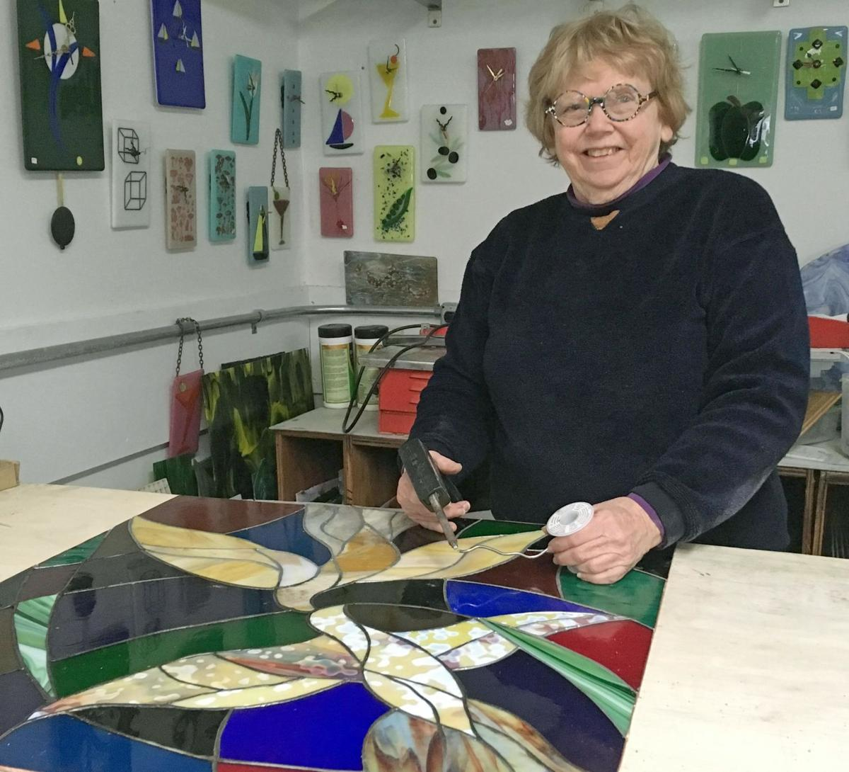 Glass artist shows lifetime of work at Mercy Center