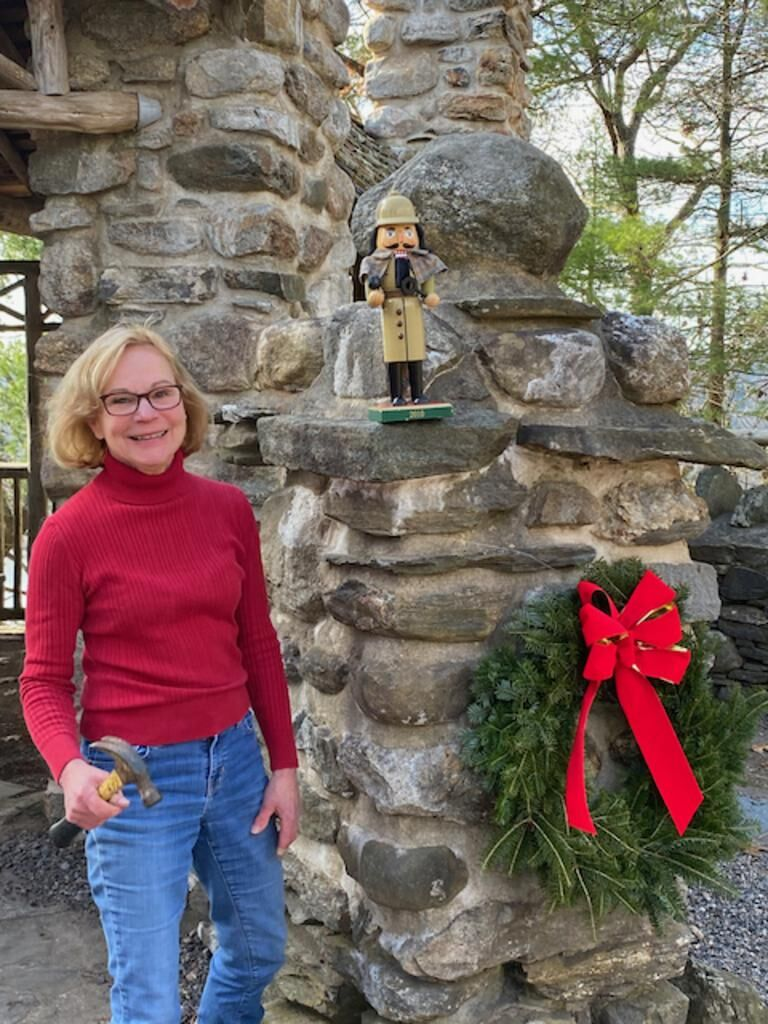 Decked out for the holidays: The grounds at CT's Gillette Castle State Park