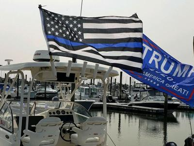 Boaters for Trump take to the water in Branford, Sept. 26