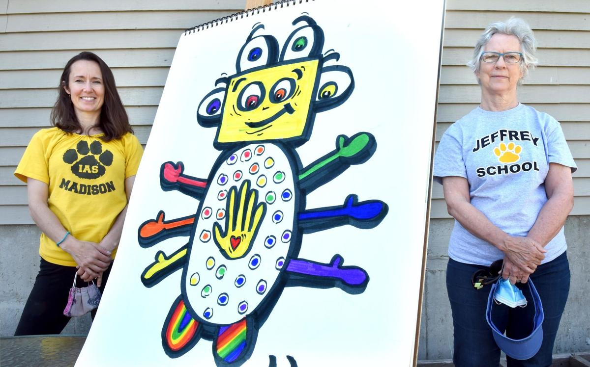 Teachers inspire kids to create own masterpieces at home