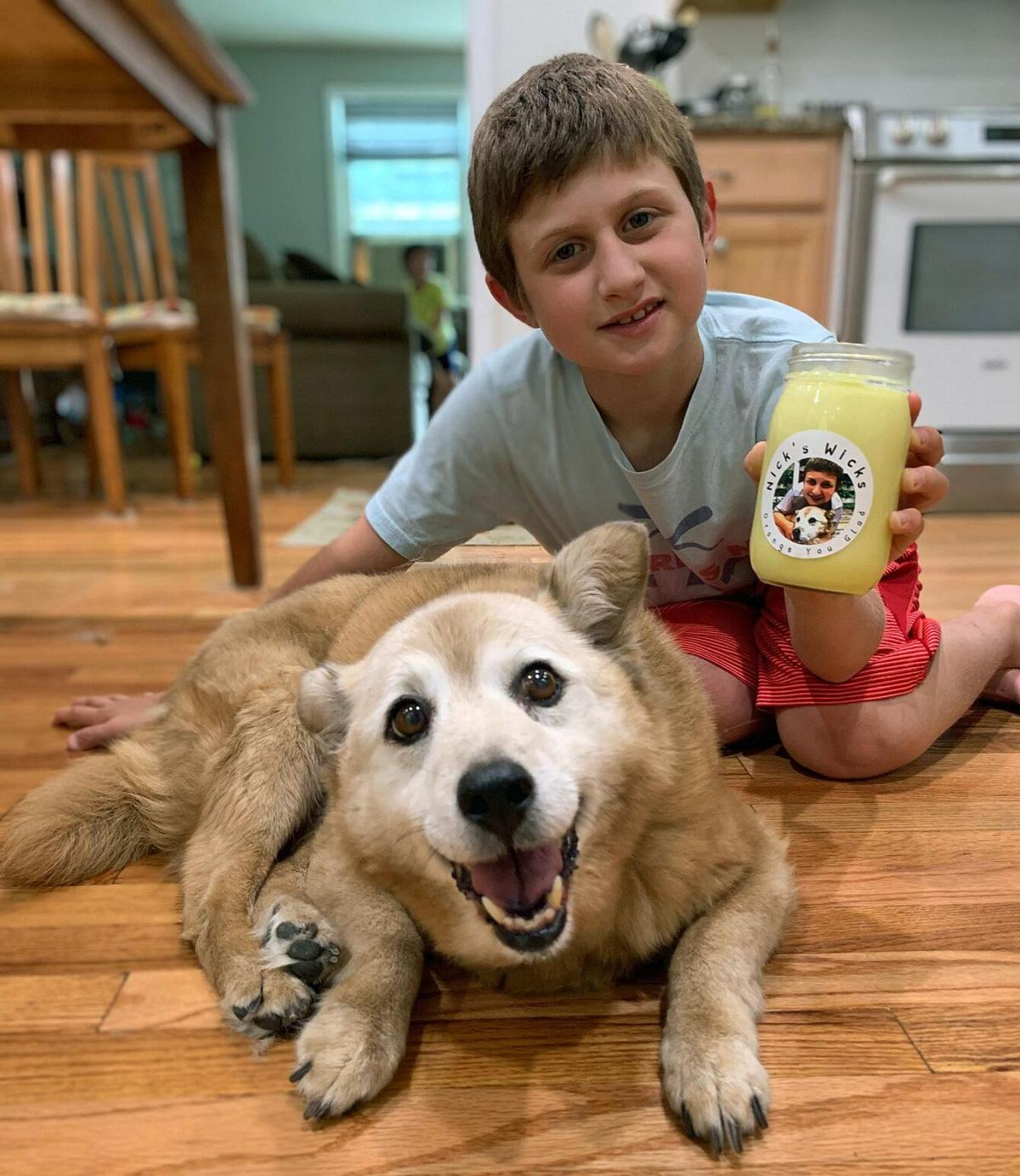 Guilford 9-year-old starts Nick's Wicks candles during COVID
