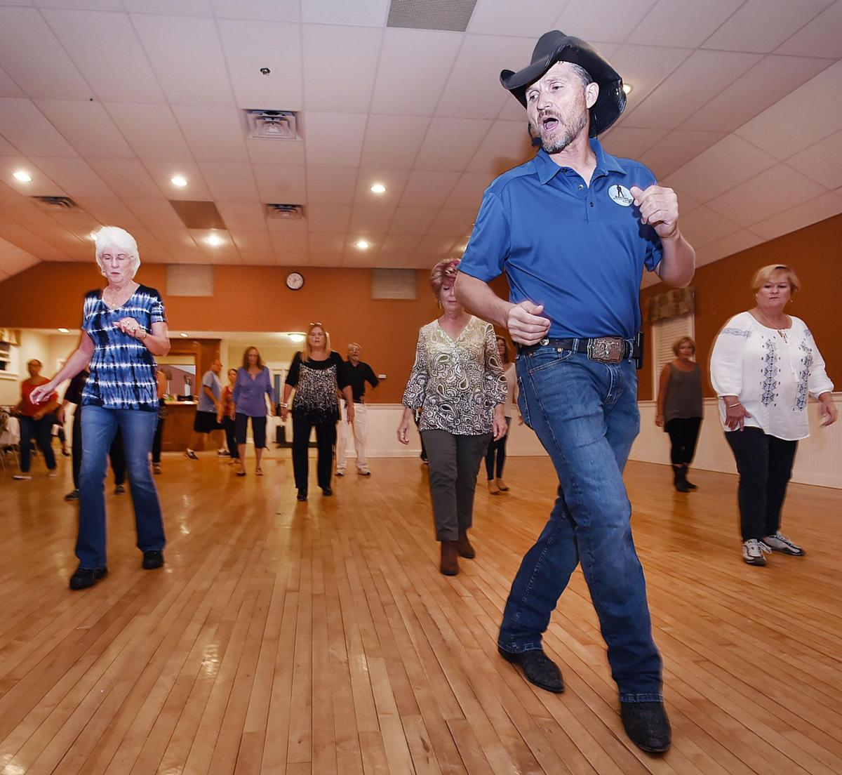 Cowboy Ron brings line dancing to the Shoreline in Branford