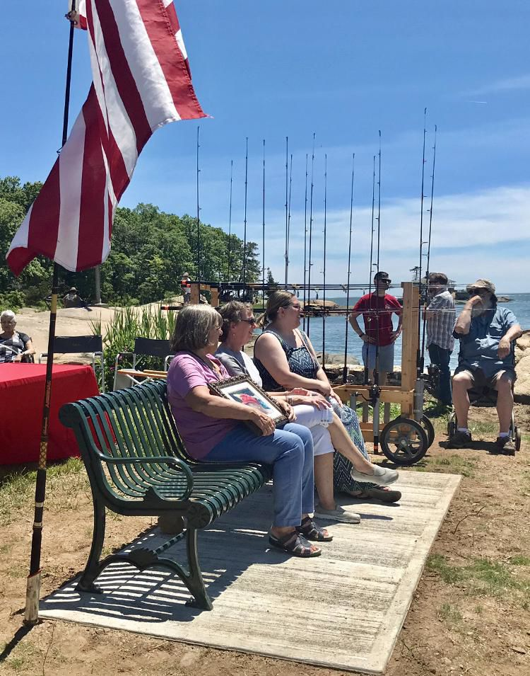 Take a Vet Fishing's Ed Ochman honored with bench at Killam's Point