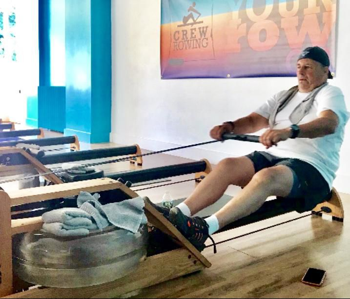 65-year-old does marathon row with new knee in Branford