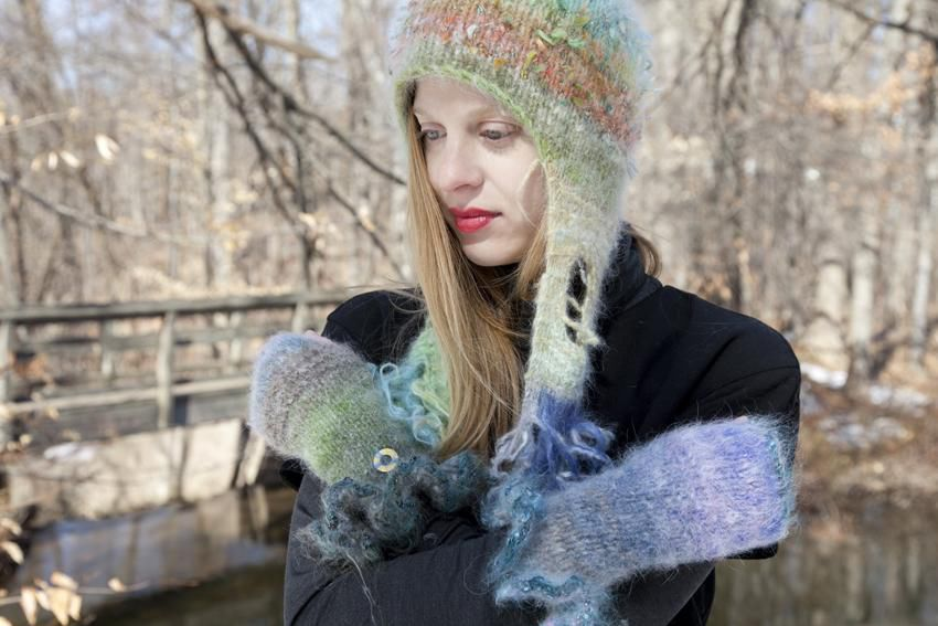 Sweater girl: Branford artist whips up one-of-a-kind knitwear