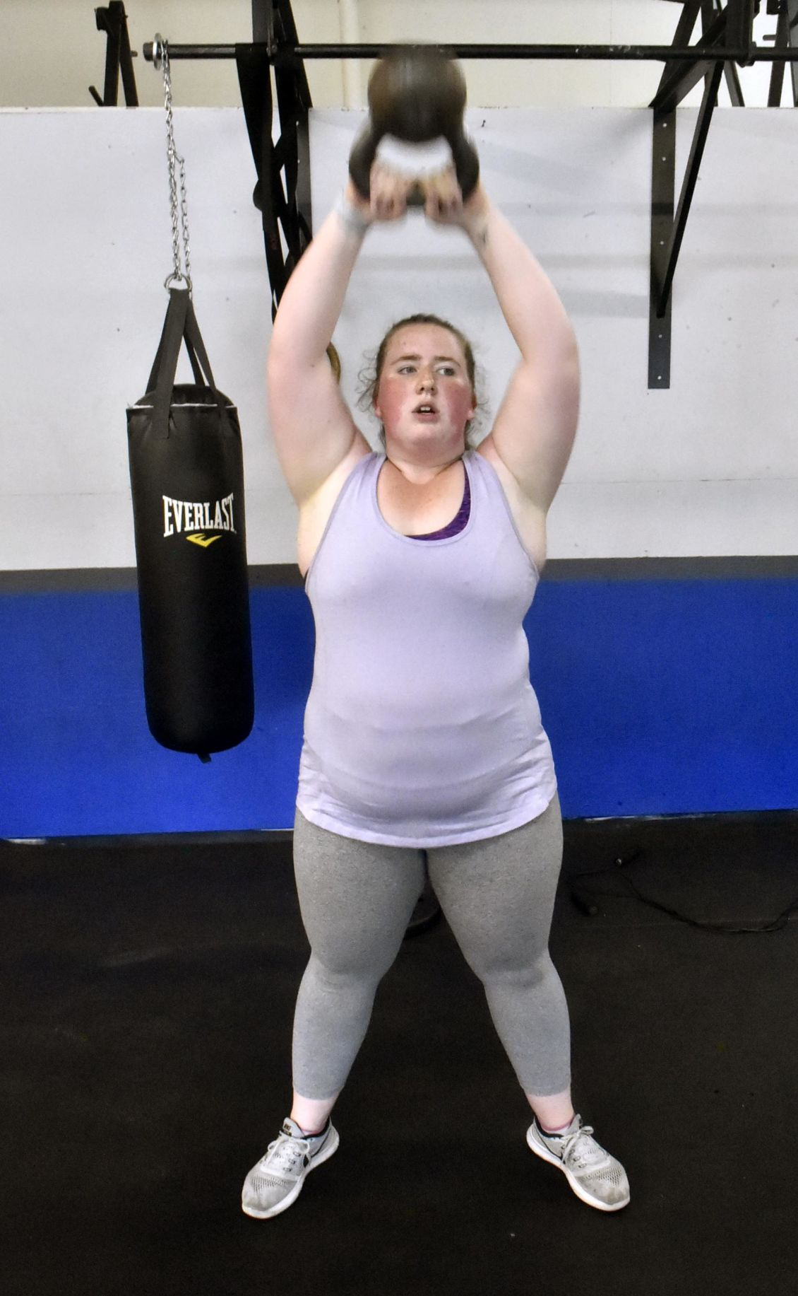 Madison's Meghan Coady pulling herself up at The Pit Fitness Club