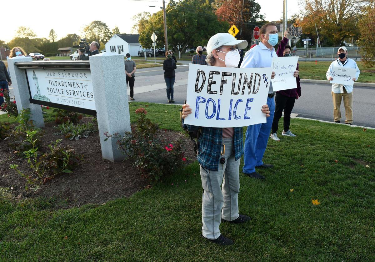 Protesters call for police accountability in Old Saybrook