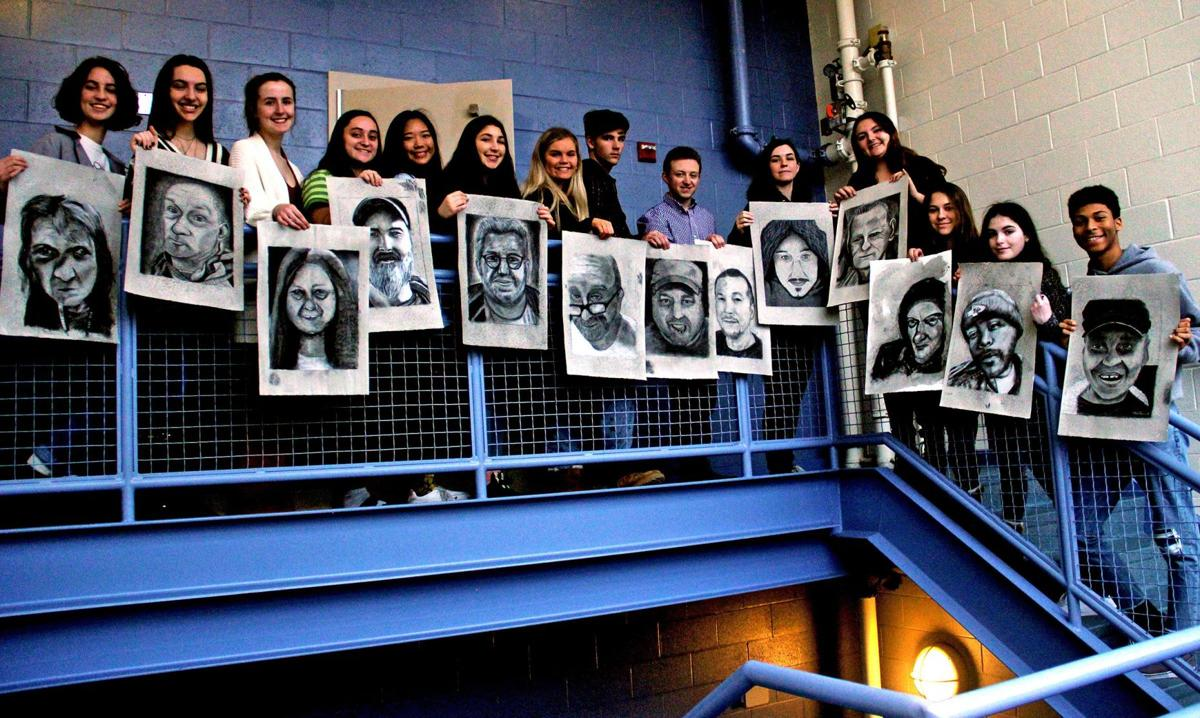 Madison art students work with Middletown mental health agency for portrait project