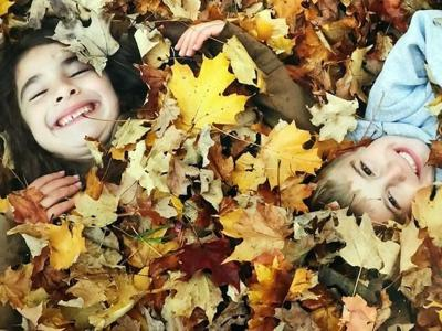 Raking leaves is a fall tradition to pass down