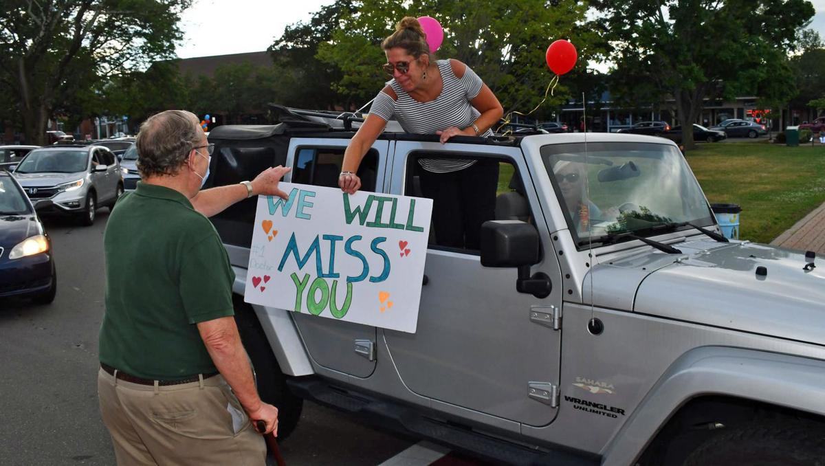 Beloved Branford pediatrician honored with drive-by retirement parade
