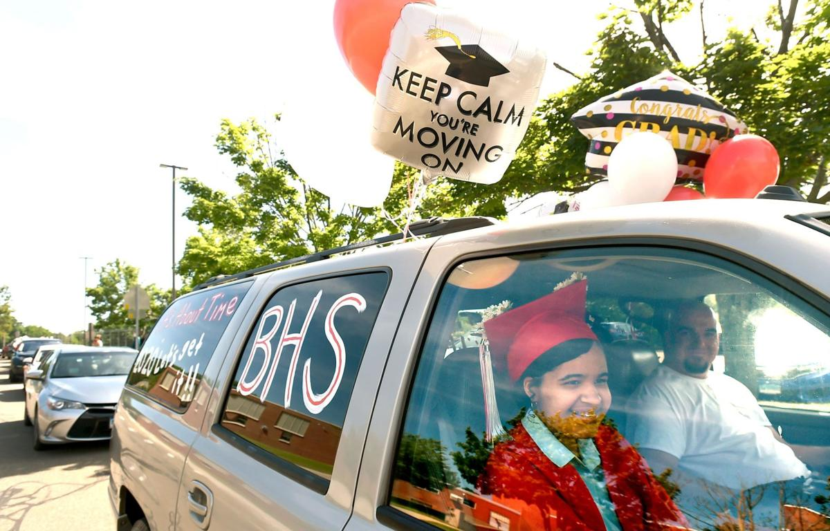PHOTOS/STORY: 80 of Branford High's grads take part in drive-through ceremony; rest to graduate Aug. 3