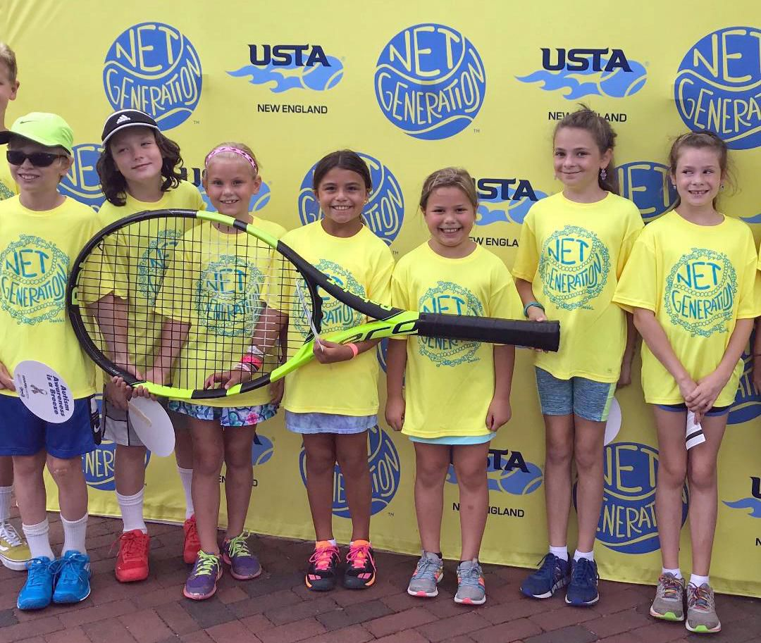 Young shoreline tennis players are treated like pros at U.S. Open