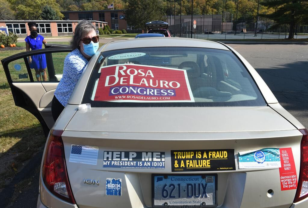 No big trucks, no air horns, Democrats take to the road to support Biden, local candidates