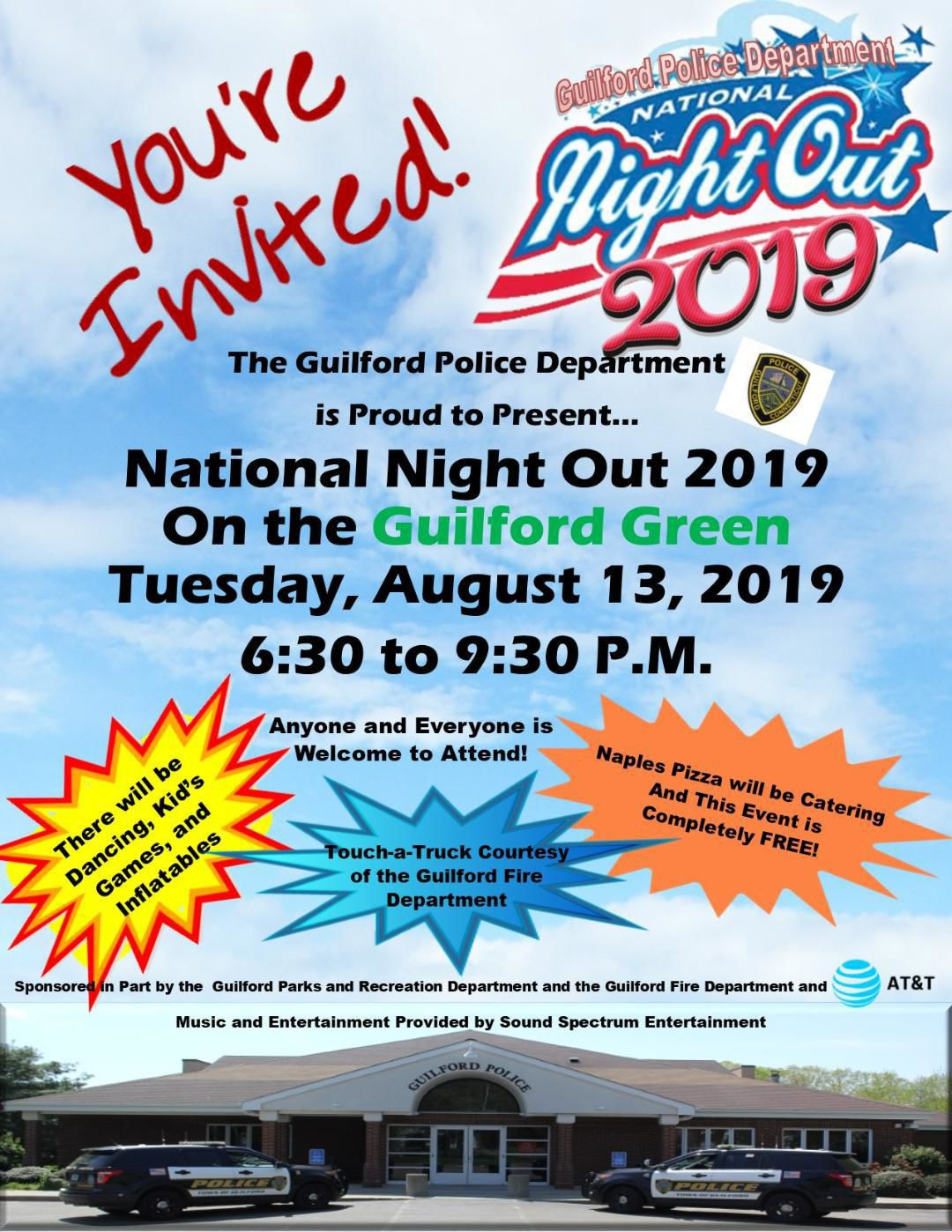 Guilford police host 'Night Out' on the green, Aug. 13