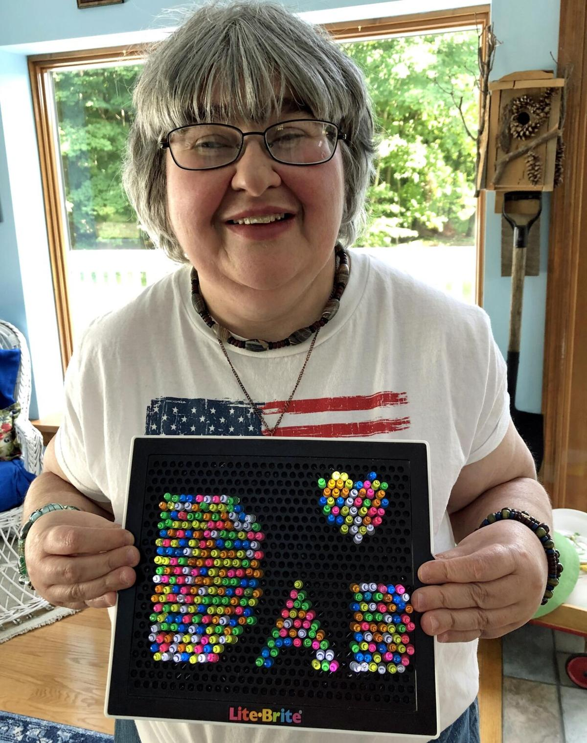 'An artist in her own way.' Legally blind woman lights up her quarantine with Lite-Brite pictures