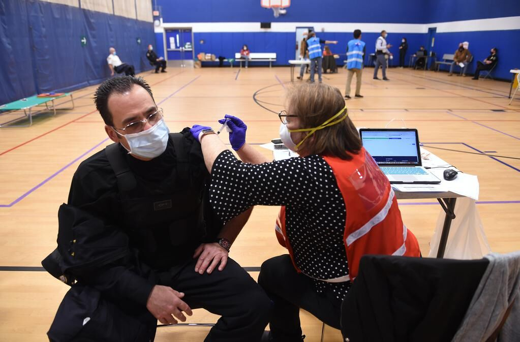 'A ray of hope': Region's first responders get first dose of COVID-19 shot