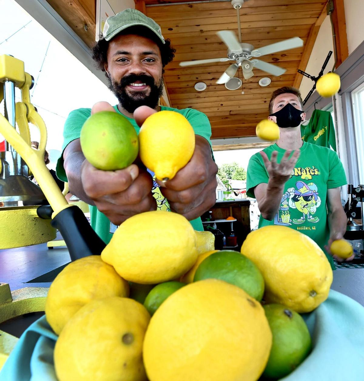 He started with lemons and he turned it into Nate's Lemonates, a lemonade stand with a view