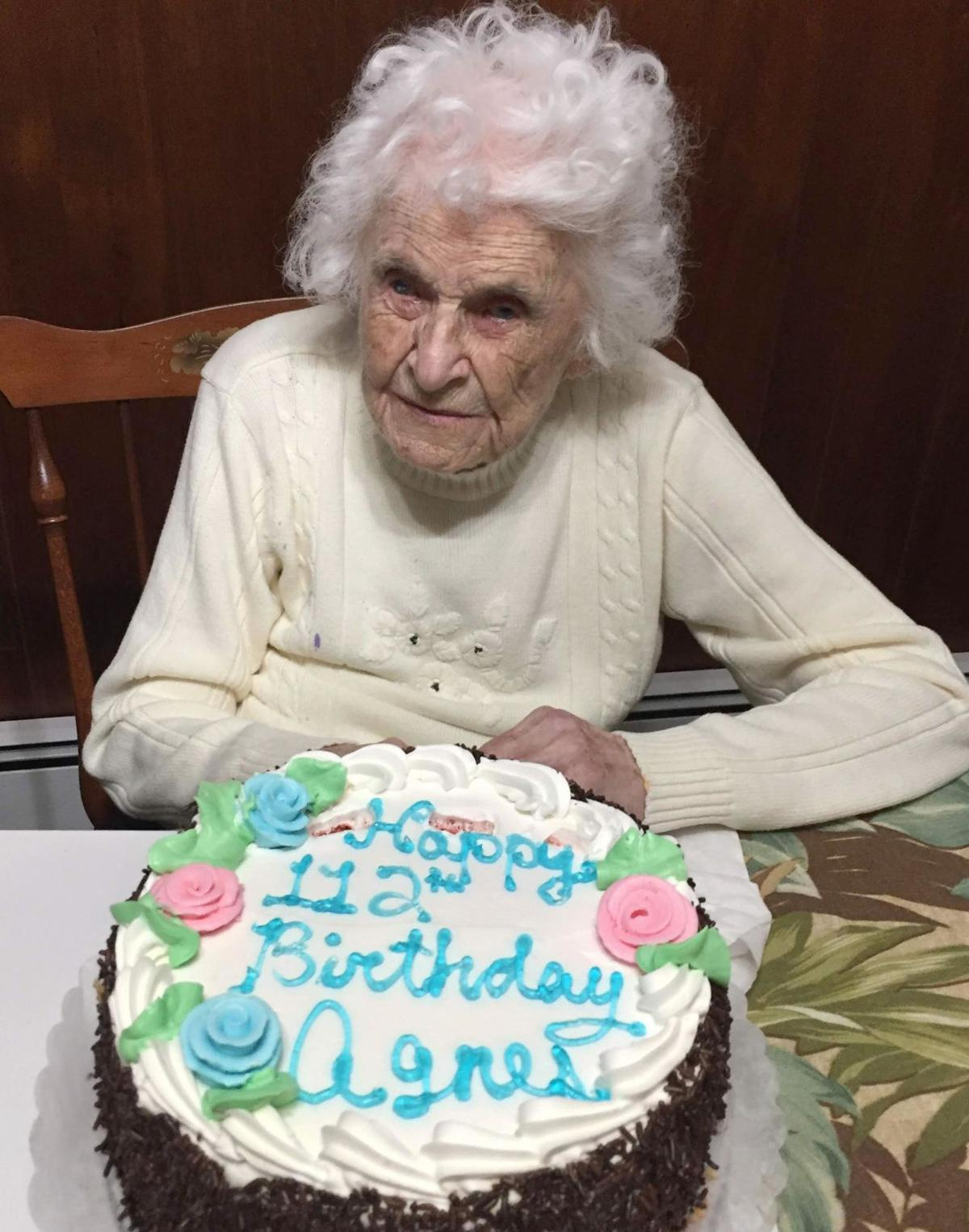 112 year old woman, 3rd oldest living person in CT