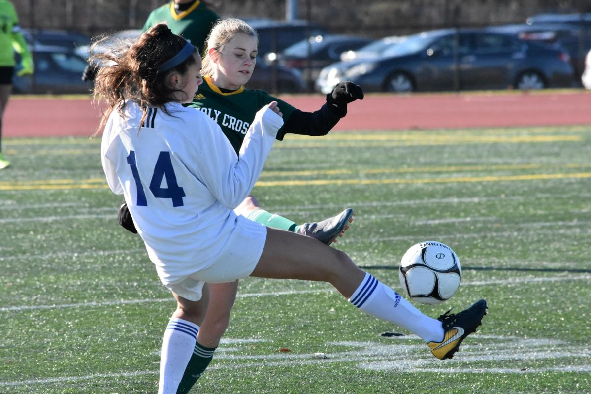 Holy Cross wins first Class S girls soccer championship on Bushka goal, Schaffner saves