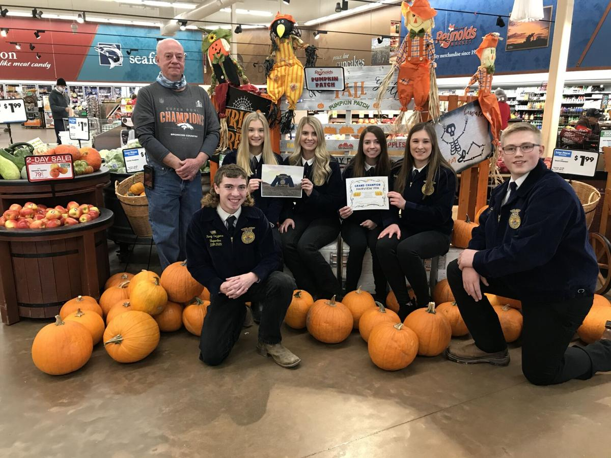 Fairview FFA accepts hay bale award