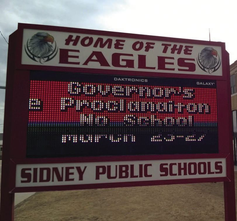 Sidney School Sign