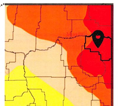 RICHLAND DROUGHT MAP