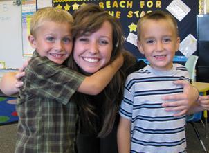 New Lambert teacher enjoying her small class