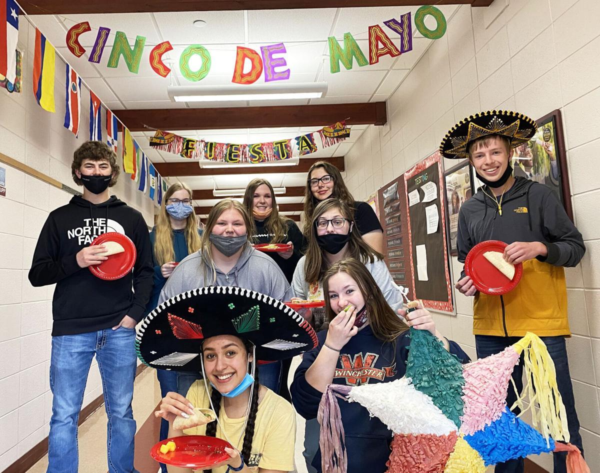 SHS Spanish 2 class parties like it's Cinco De Mayo
