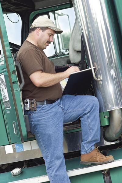 Truck Driver Buying Gas color