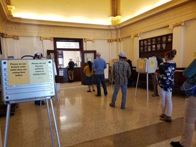 lines to cast ballots