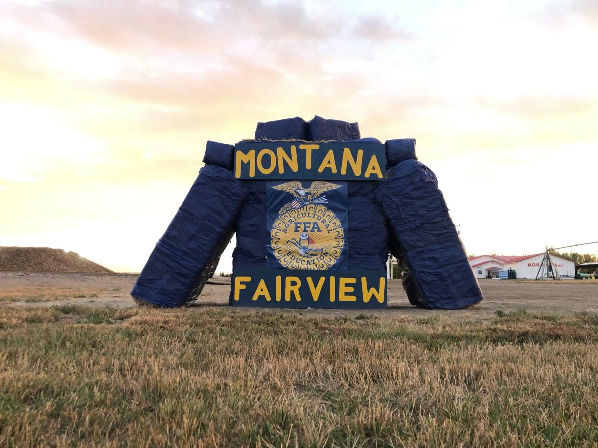 Fairview FFA hay bale