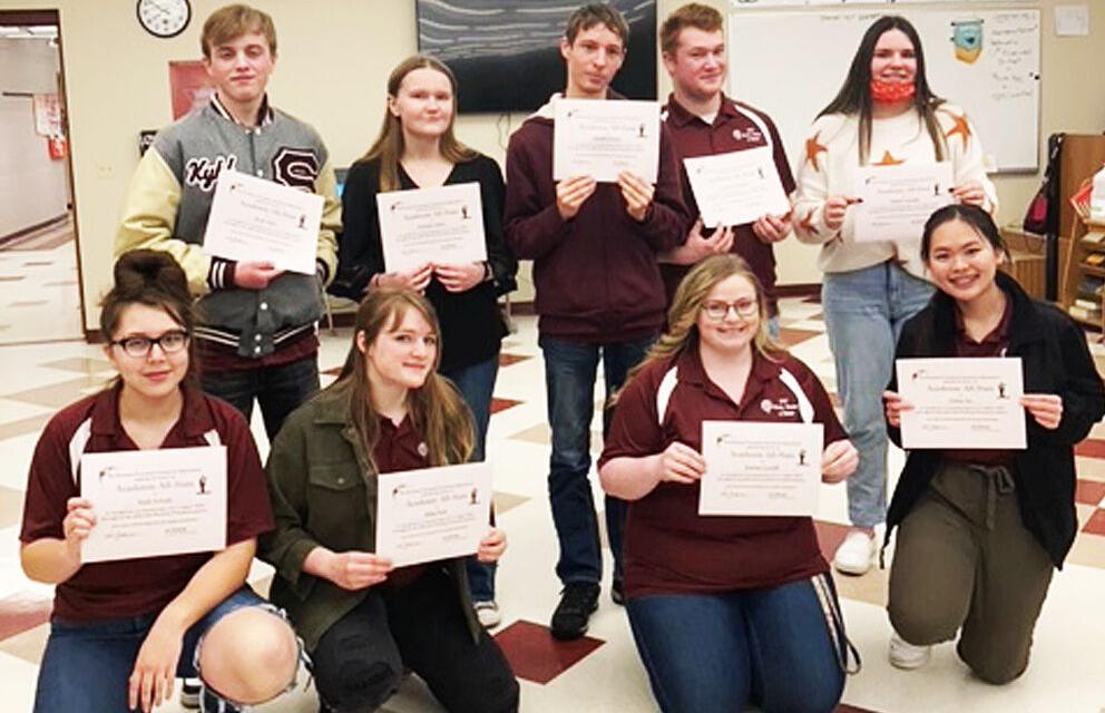 SHS Speech, Drama and Debate team members earn All-Academic honors