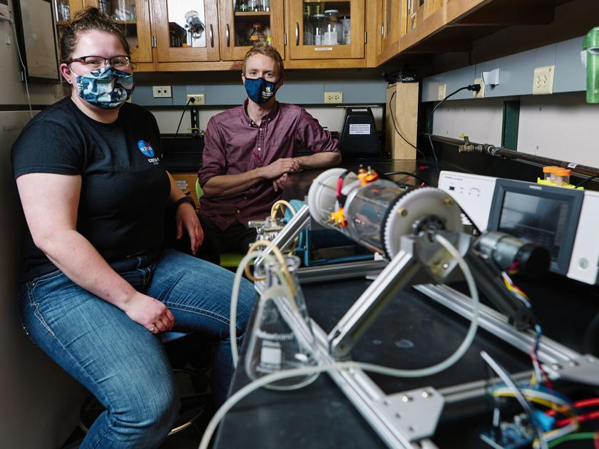 MSU students build device to help NASA study clogged pipes ...
