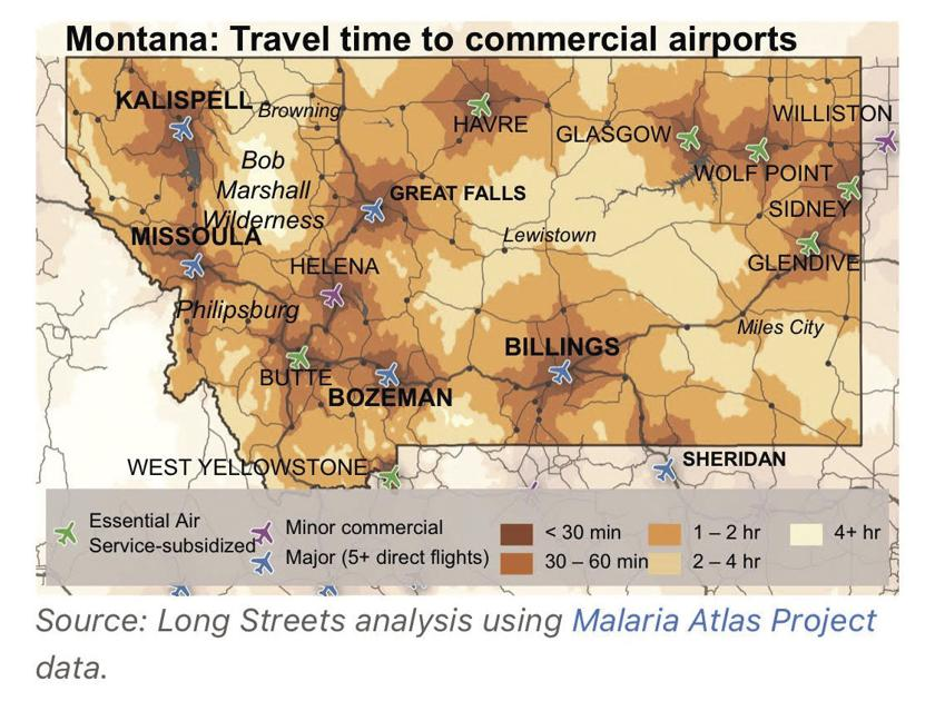 Air access is a big deal for rural Montana  Here's how far