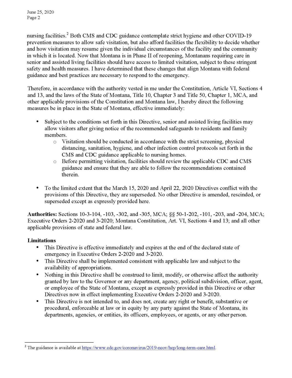 Nursing Homes Directive 2