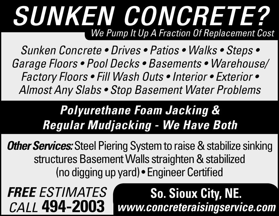 Sunken Concrete