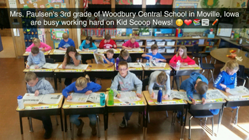 Mrs. Paulsen's 3rd Grade Class at Woodbury Central.