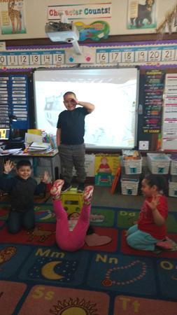 Ms. Jungers' kindergarten class at Hunt Elementary