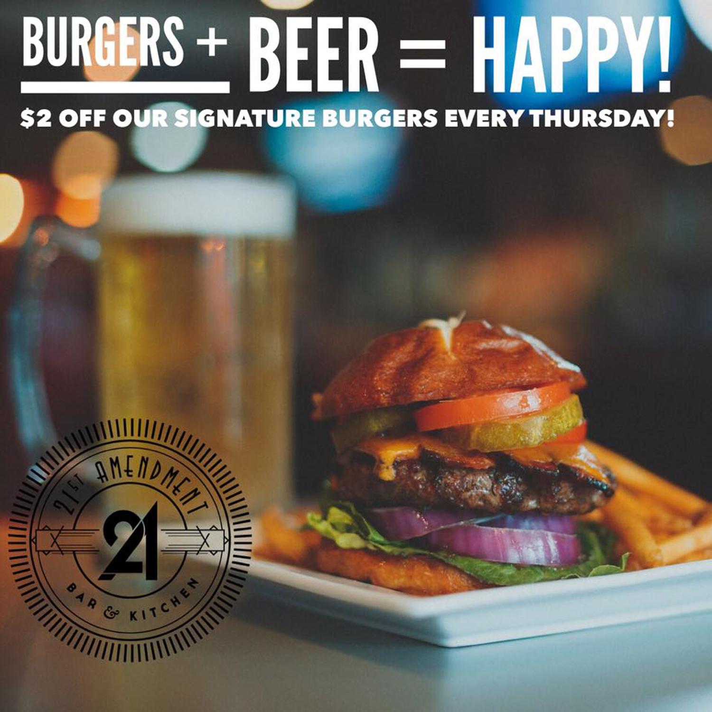 Burgers + Beer = Happy!