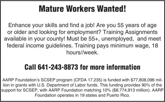 Mature Workers Wanted! AARP