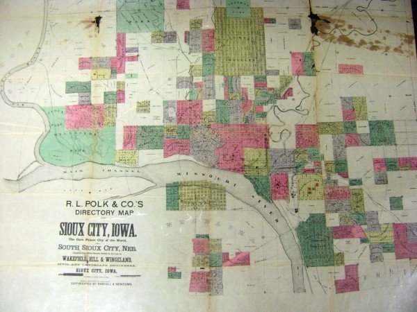 City map shows growth in 1888
