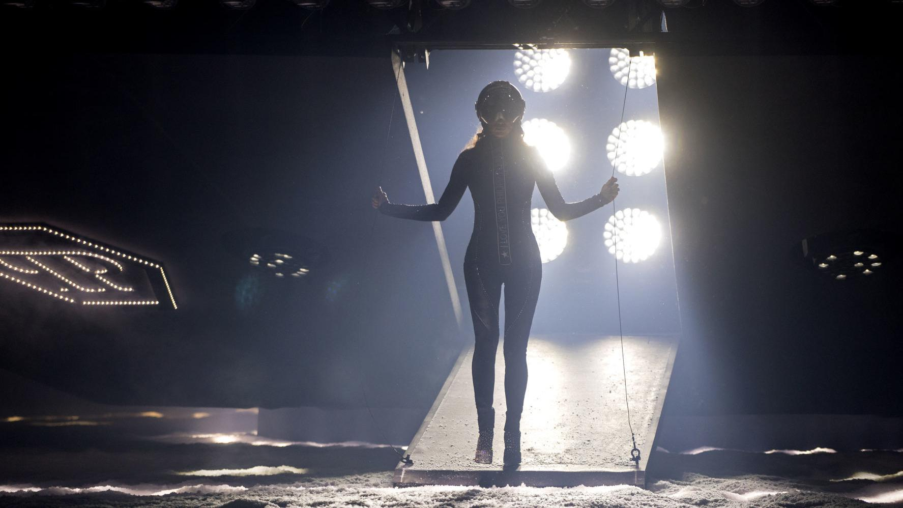 From heavy leather to a snowy spaceship ride: New York Fashion Week in photos