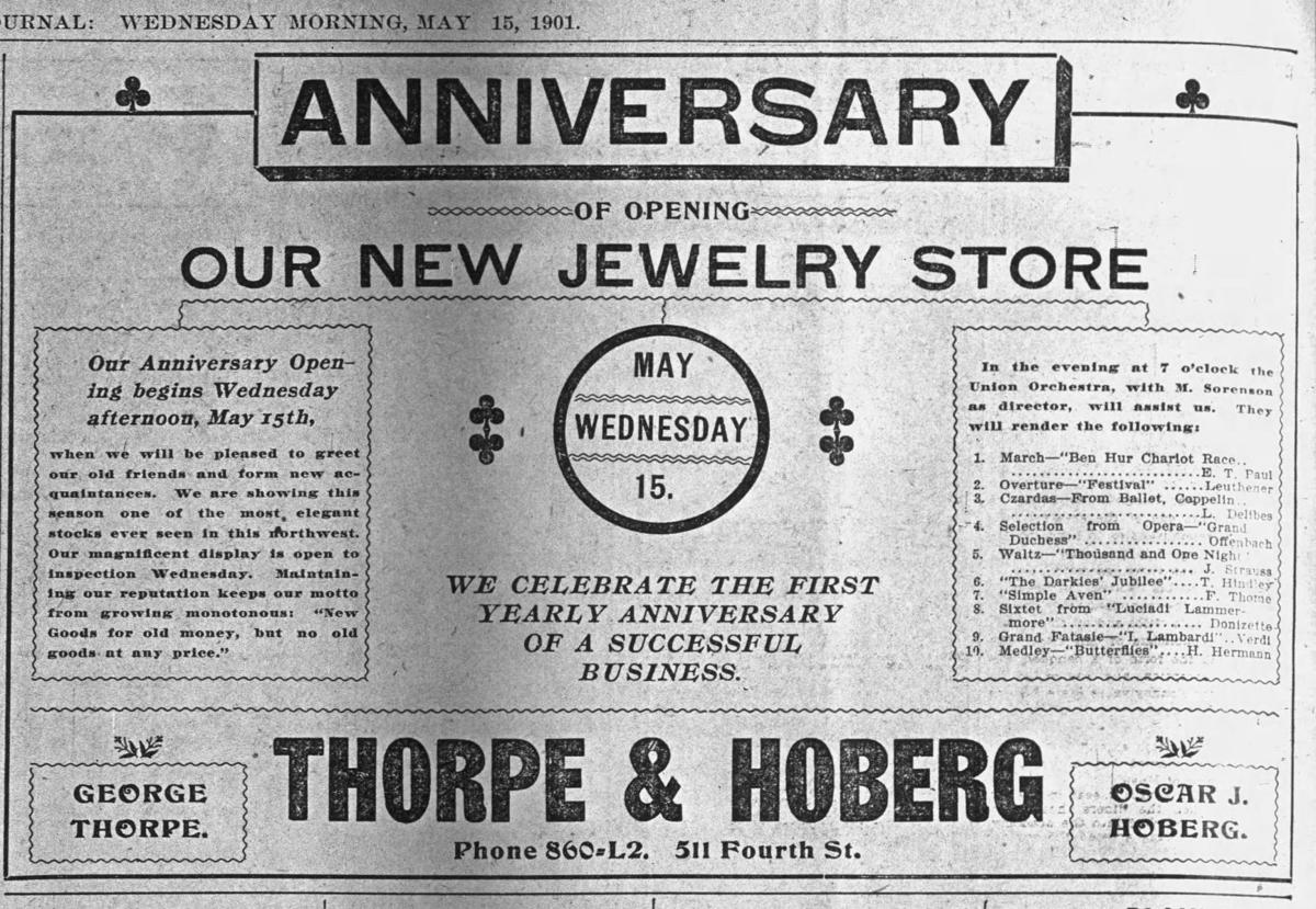 Thorpe advertisement May 1901