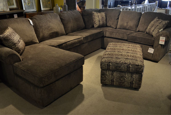 A Gray Sectional Sofa Shown In Pewter Showcases Por Style And Color Sold At Hatch Furniture The Is Made U S By England