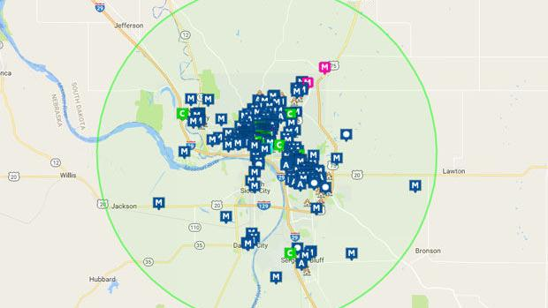 Offender map for poll | | siouxcityjournal.com on