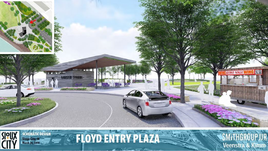 Floyd Entry Plaza