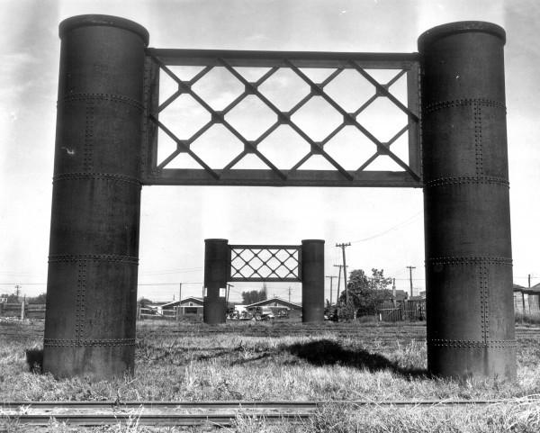 Elevated railway piers