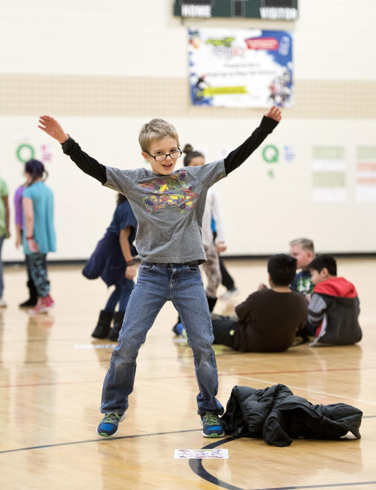 Teaching math and reading in gym class COVER SHOT